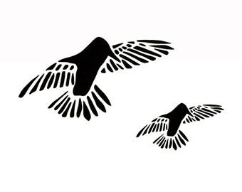 Stencil - Paint Stencil - Craft Stencil - Fiber Art Stencil - Humming Birds - Flying Bird Stencil - Fabric Painting Stencil - Bird Stencil
