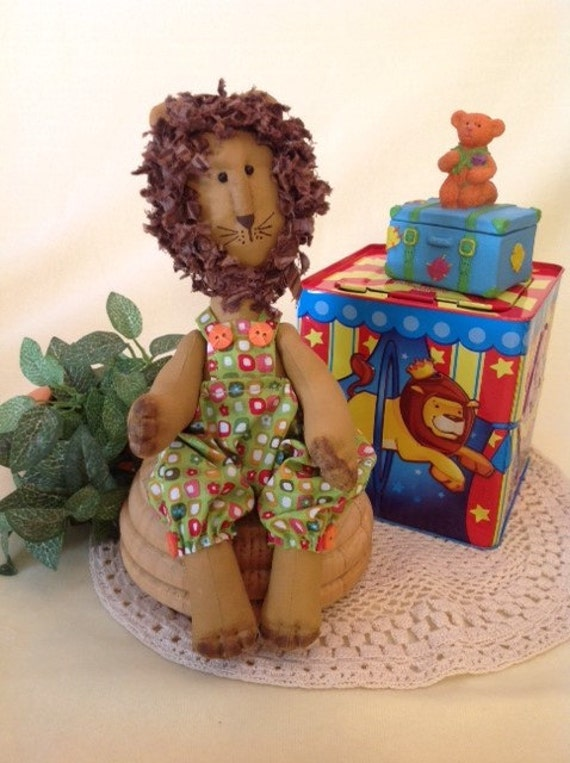 Baby Lion - Mailed Cloth Doll Pattern Baby Boy Lion Sewing Pattern