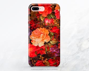 iPhone 8 Case iPhone X Case iPhone 7 Case Vintage Floral iPhone 7 Plus Case iPhone SE Case Tough Samsung S8 Plus Case Galaxy S8 Case V28