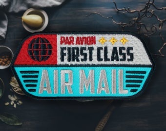 "Air Mail Patch | Sew On | Embroidered | Patches for Jackets | 3.75"" (Free Shipping US)"