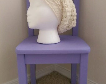 Lazy Daisy Slouchy Beanie Crochet Pattern - The Lavender Chair - *PDF ONLY* Instant Download