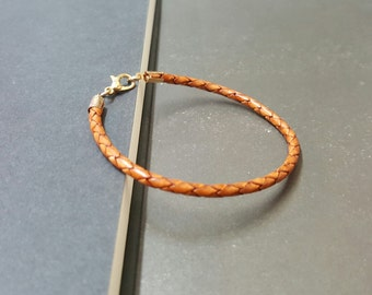 Hippie Single  Leather Bracelet