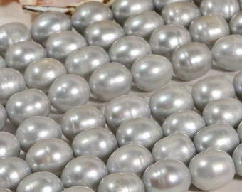 Freshwater Pearl 14x12 mm Gray Freshwater pearl Jewelry Supplies Pearl Beads
