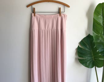 Blush Pink Pleated Skirt Size 8