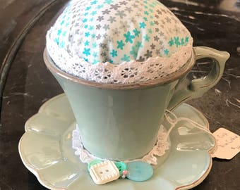 Teacup Pin Cushion