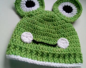 Green Frog Hat,Baby, Toddler,Shower Gift