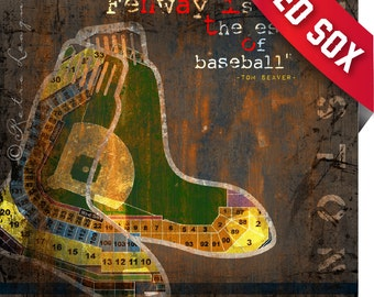 Boston Red Sox Fenway Park Stadium Art Print - Perfect Birthday, Anniversary or Father's Day Gift - Red Sox Nation Print (Unframed)