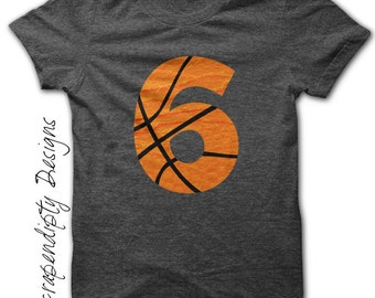 Basketball Number Iron on Transfer - Iron on Custom Basketball Shirt / Sport Birthday Party / Mom Customized Tshirt / Digital Design IT454