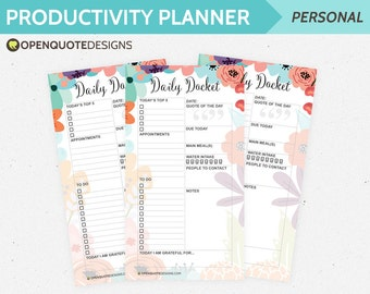 Personal Filofax Personal Inserts, Daily Planner, Filofax Printable Planner Inserts, Filofax Inserts, Daily Agenda, Productivity