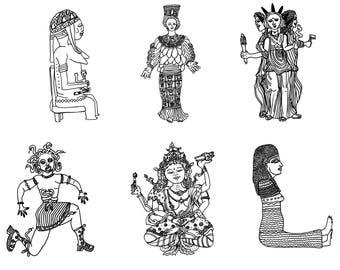 Variety Pack of 6 Goddess