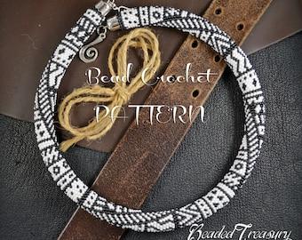 TRIBALIS Bead crochet pattern Necklace pattern Beaded necklace Beaded crochet rope Seed bead pattern Ethnic Boho necklace - Pattern Only
