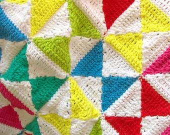 Crochet Blanket Pattern - Bright Kites Baby Blanket Pattern / Play Matt Pattern - PDF Baby Blanket Crochet Pattern