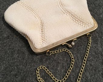 Vintage 1960s Du-Val Beaded Evening Bag with Kiss Lock