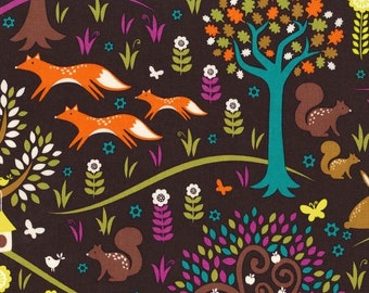 Michael Miller Fabrics Fox Trot 1/2 Yard from the Norwegian Woods Too Collection