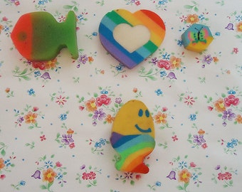 Four Cute 80s Erasers.