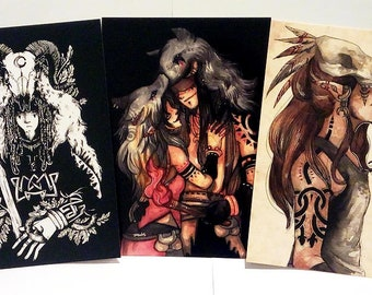 Set of 3 A5 prints