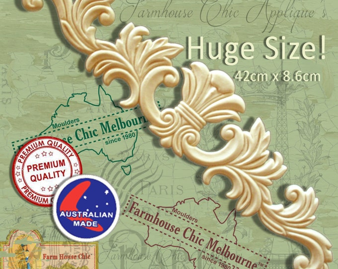 Large French Provincial Ornamental Furniture Mouldings Appliques Decorations Resin Furniture Appliques