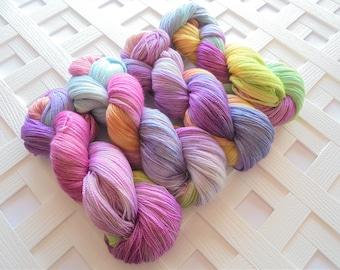 LIZZIE Hand-Dyed Yarn, Jane Austen Yarn Collection, Lace-Weight Yarn, Indie-Dyed Yarn, Lace Knitting Yarn, Crochet Silk Yarn, Sparkly Lace