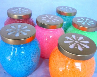 smelly jelly air fresheners set of three 12 oz jars custom made you pick three scents