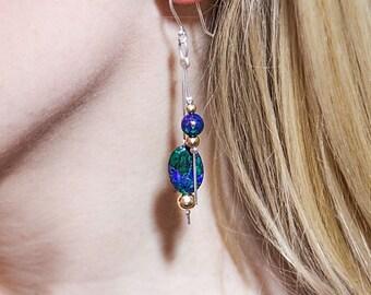 Lapis Lazuli - Eilat stone earrings