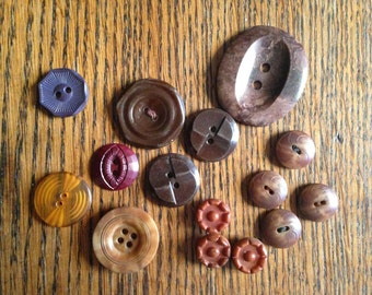 Button Collection Brown