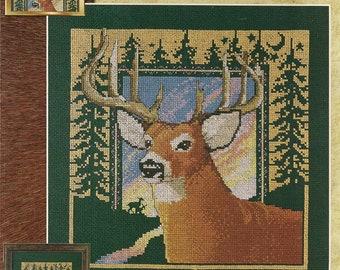 Cross Stitch Patterns Leaflet,Ten Point Buck,Deer Cross Stitch,Wildlife Cross Stitch Patterns,Forest Cross Stitch,Vintage Cross Stitch