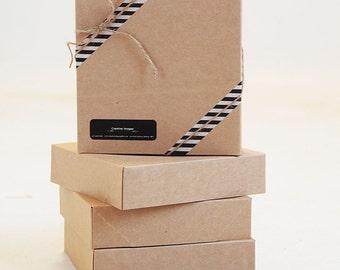 Set of 10-  NEW SIZE-10  x  10 x 2 1/2 Kraft Gift Box