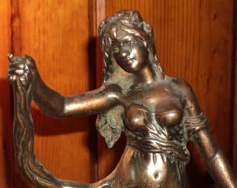 French Victorian bronze statue