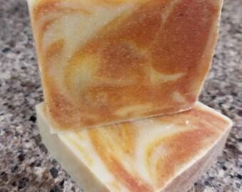 Turmeric and Paprika Soap Cake