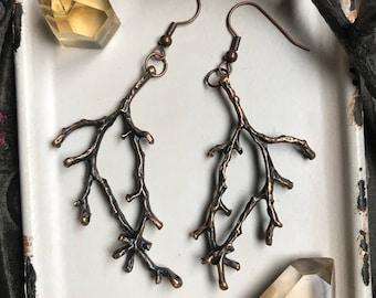 Tree branch earrings