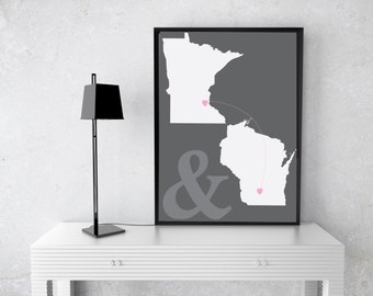 Personalized Two State Gift