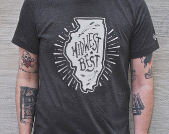 Midwest Best  |  Adult Heather Tri-Blend Tee