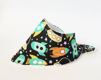 Space Bandana Bib, Drool Bib,  Baby Gift, Baby Girl Bib, Baby Boy Bib, Absorbent Bandana Bib, Adjustable Bib, Space Drool Bib, Spaceship