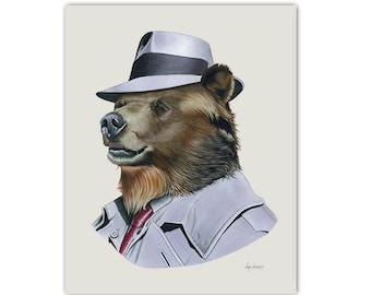 Grizzly Bear print 11x14