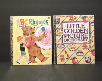 A B C Rhymes & Little Golden Picture Dictionary, Little Golden Books