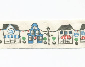Cotton Ribbon party Village by the meter, fancy trim