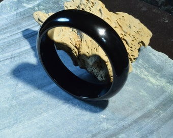Wyoming Edwards Black Nephrite Cuff Bangle