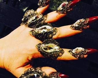 Ice crystal glove rings