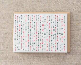 Arrows Letterpress Greeting Card