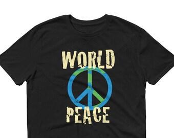 World Peace, Peace on Earth, Peace Sign, Sleeve T-Shirt