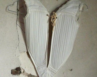 antique victorian French child corset shabby chic