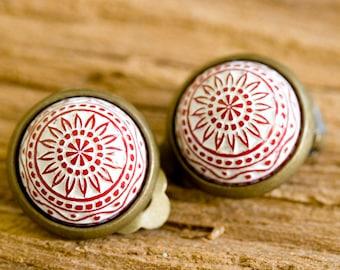 """Earrings """"Red Mosaic"""""""