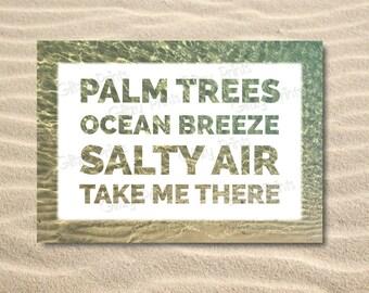 Ocean Print / Hamptons print / Beach print /  Coastal Print / Typography Print /House warming gift