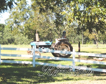 Vintage Ford Tractor.Blue Tractor.Country Rustic.Digital Download.Printable.Ford.Classic Ford Tractor.Farm Photography.Tractor Photography.