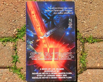 Star Trek VI The Undiscovered Country Vintage Paperback Book January 1992 Edition