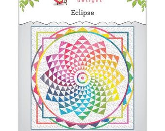 "Pattern ""Eclipse Wall Hanging or Throw"" by Main Street Market Designs (MSM127) Paper Piecing Pattern Templates"