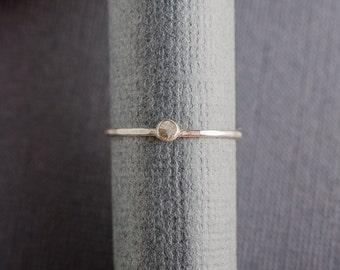 Little Dot Sterling Silver Stacker Ring