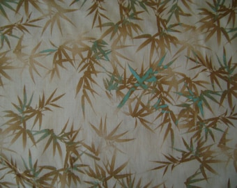 Soft Bamboo Cream Cotton Fabric Sold by the Yard