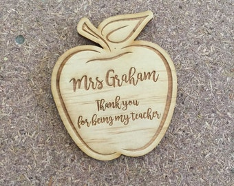 Cute end of year Teacher Gifts - Personalised Apple magnets