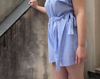 Short jumpsuit-JUMPSUIT, handmade cotton single Head, new spring 2018 Collection